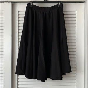 ASOS Black Scuba Circle Skirt | US Size 10
